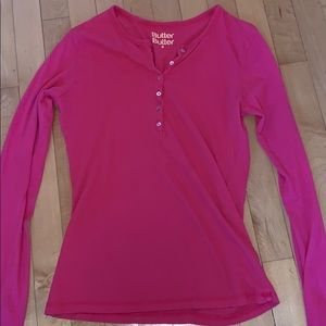 Butter Butter insanely soft pink long sleeve